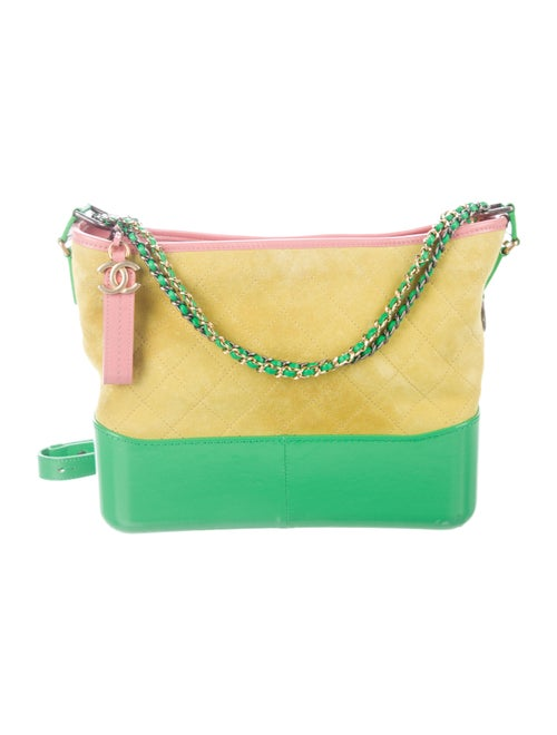 Chanel 2017 Small Gabrielle Hobo Lime