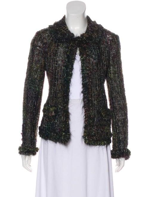 Chanel Mohair Tweed Jacket Black