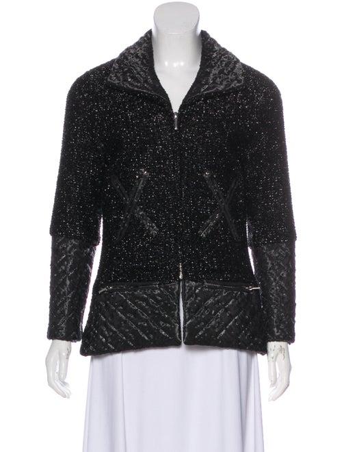 Chanel Metallic Tweed Jacket Black
