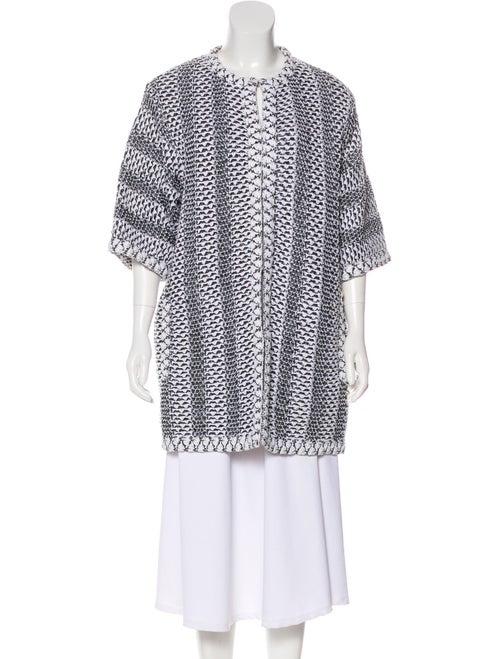 Chanel Short Knit Coat White