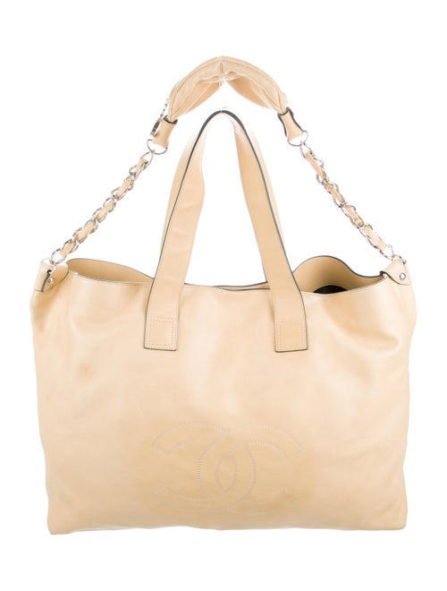 Chanel XL Soft Edgy Tote yellow