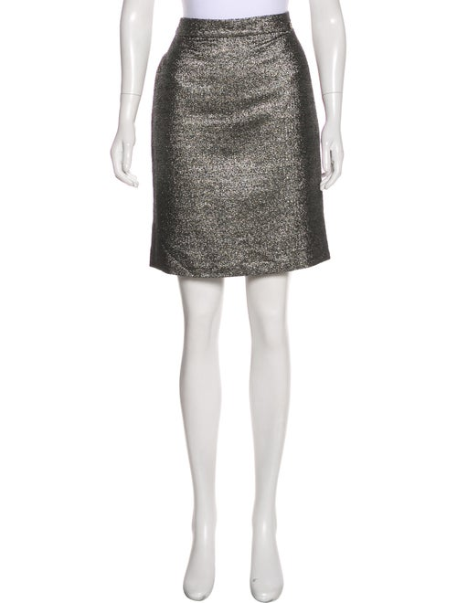 Chanel Metallic Knee-Length Skirt Gold