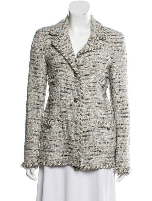 Chanel Metallic Tweed Jacket grey