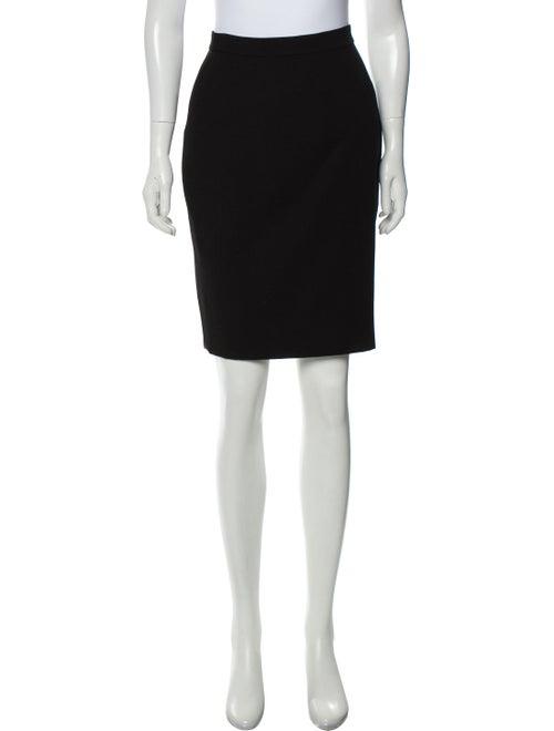 Chanel Boutique Vintage Pencil Skirt Black