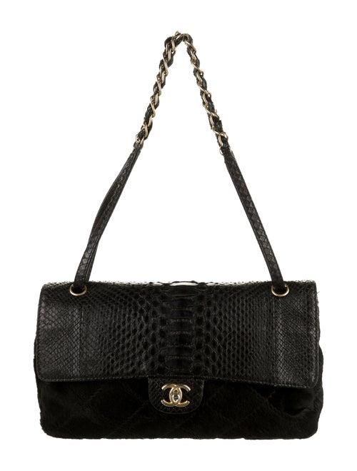 Chanel Python Flap Bag Black