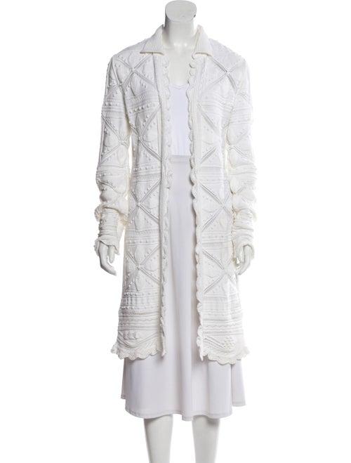 Chanel Knit Long Cardigan White