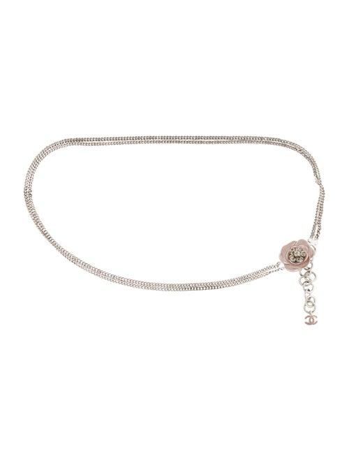 Chanel Camellia Chain Belt Silver
