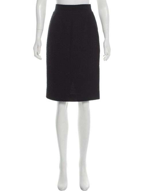 Chanel Wool Pencil Skirt Black