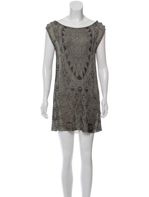 Chanel Knit Mini Dress Black