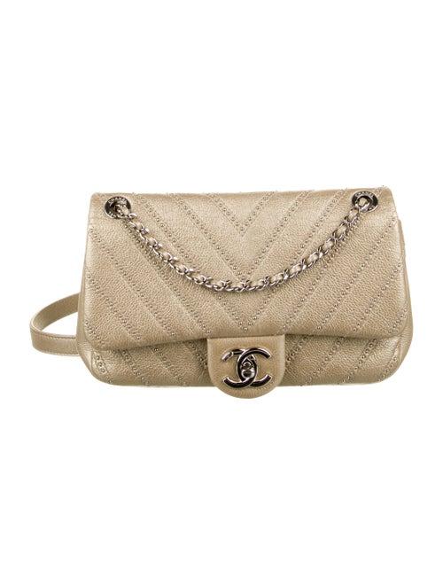 Chanel Small Chevron Stud Wars Flap Bag Metallic