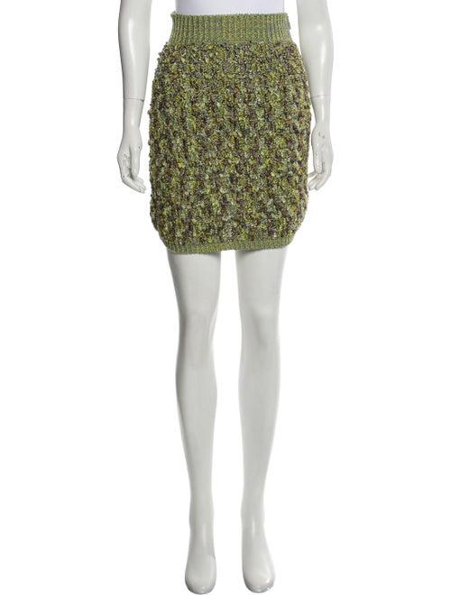 Chanel Bouclé Mini Skirt w/ Tags Lime