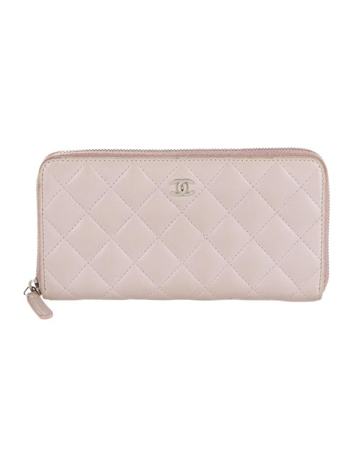 Chanel Quilted L-Gusset Wallet Pink