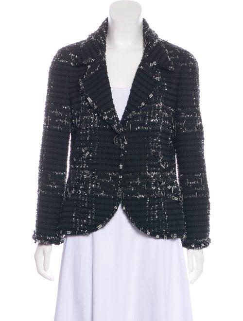 Chanel Embellished Tweed Jacket Black