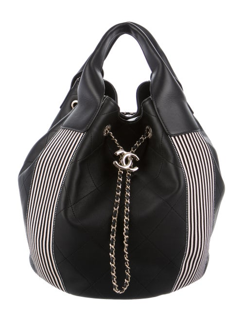 Chanel 2019 Drawstring Bucket Bag Black