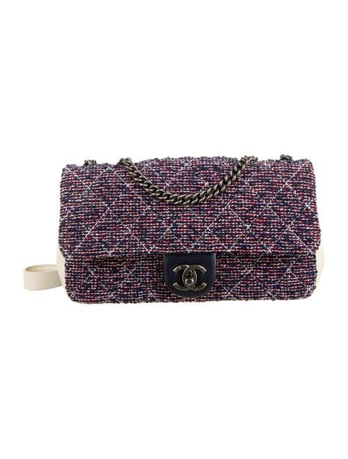 Chanel Airlines Tweed Crossbody Bag Navy - image 1