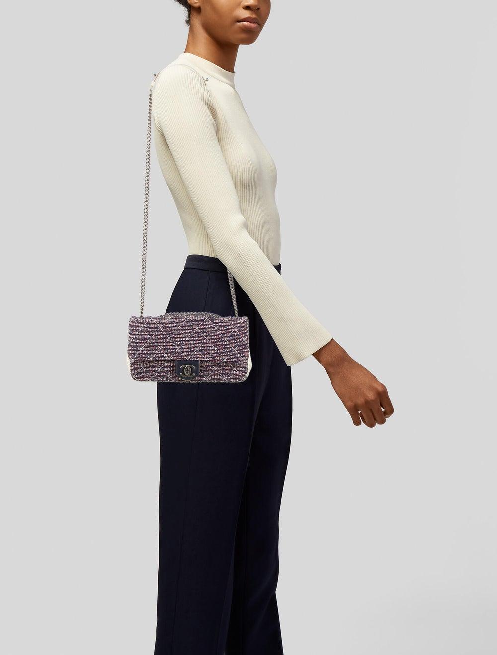 Chanel Airlines Tweed Crossbody Bag Navy - image 2
