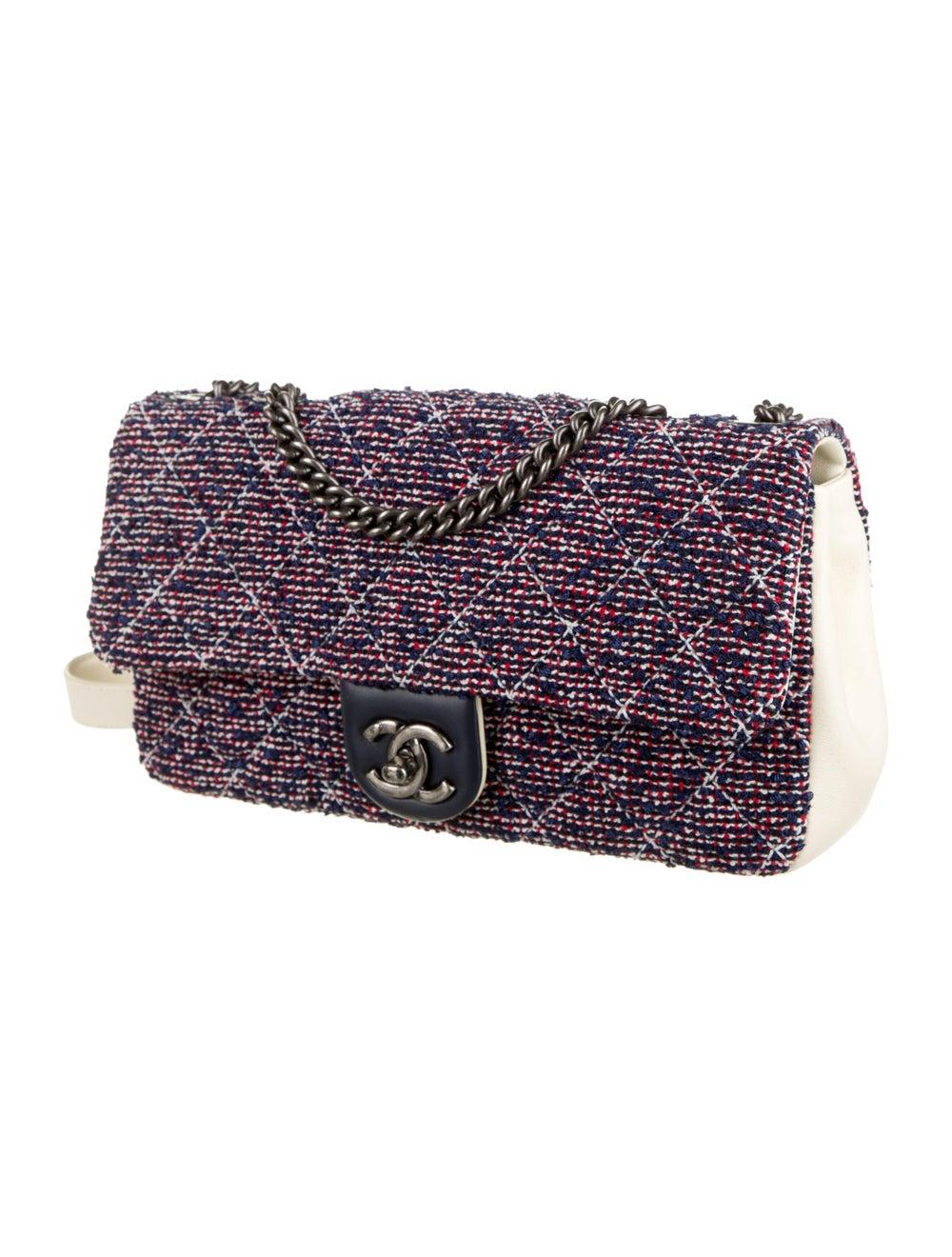 Chanel Airlines Tweed Crossbody Bag Navy - image 3