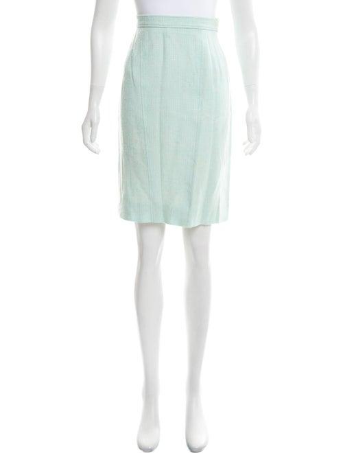 Chanel Knee-Length Pencil Skirt Blue