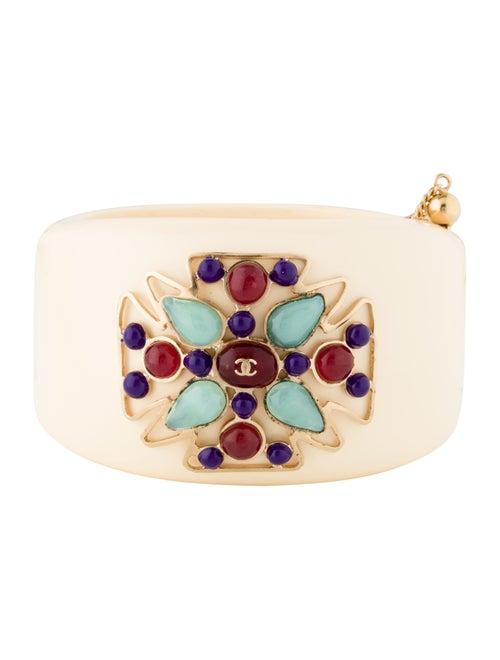 Chanel Resin Bangle gold
