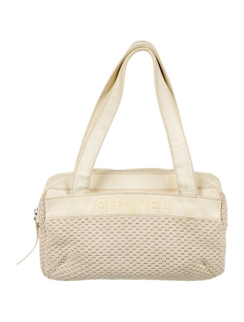 Chanel LAX Crochet Bowler Bag silver