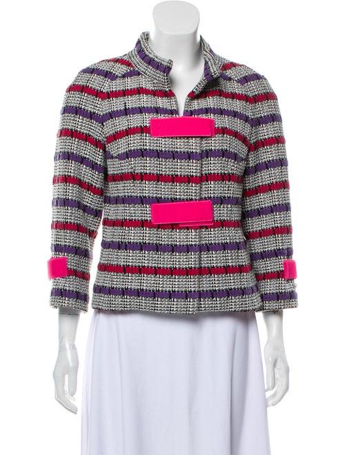 Chanel 2017 Striped Jacket Pink