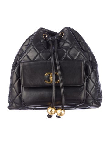 Chanel Drawstring Backpack