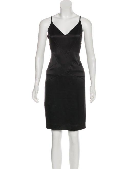 Chanel Silk Slip Dress Black