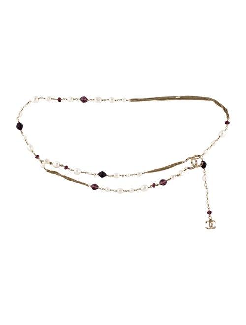 Chanel Embellished Chain-Link Belt Gold