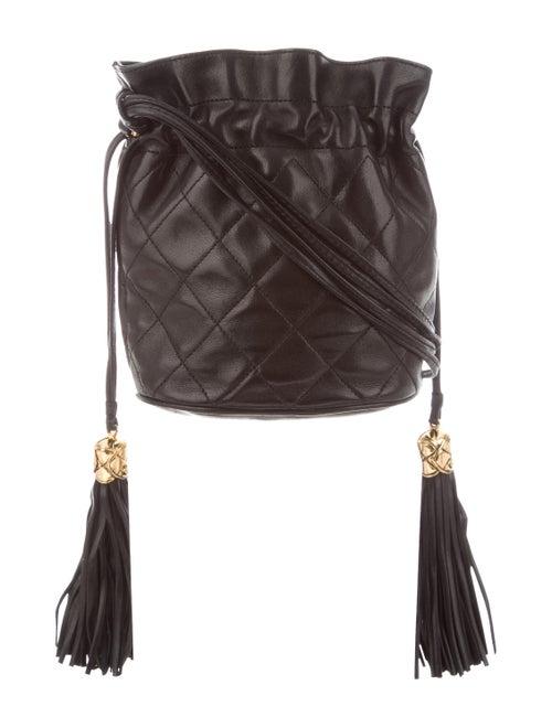 Chanel Vintage Quilted Bucket Bag Black