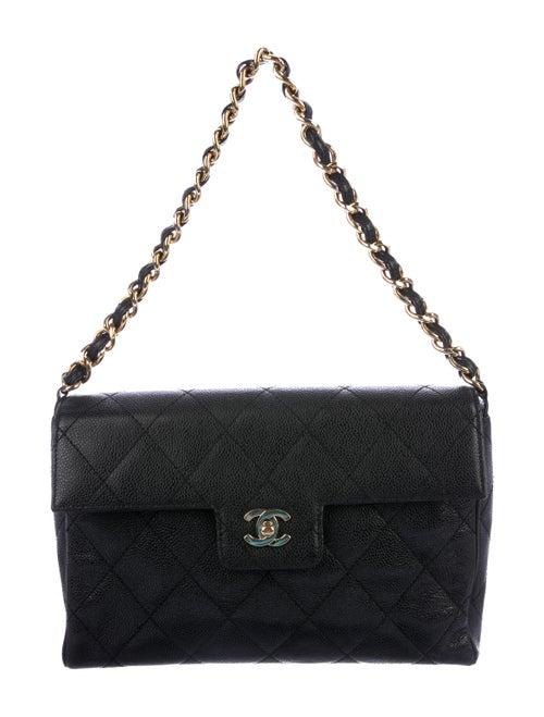 Chanel Vintage CC Caviar Flap Bag Black