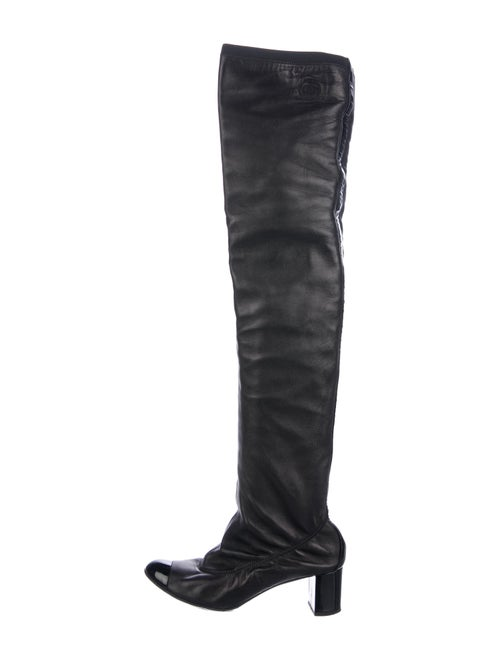 Chanel Stretch Spirit Thigh-High Boots Black