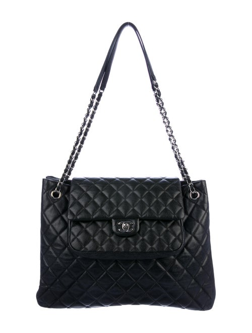 Chanel Chanel Paris-Edinburgh Quilted Flap Tote Bl