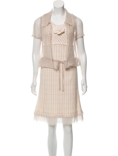 Chanel 2004 Plaid Print Dress Set