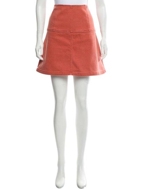 Chanel Denim Mini Skirt Orange