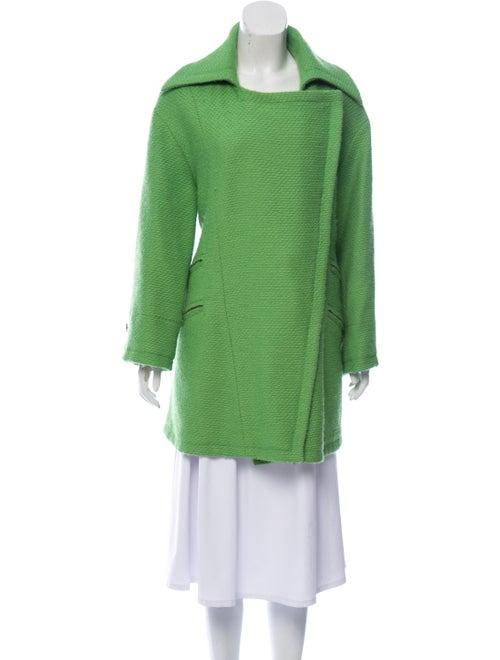Chanel Oversize Wool Coat Lime