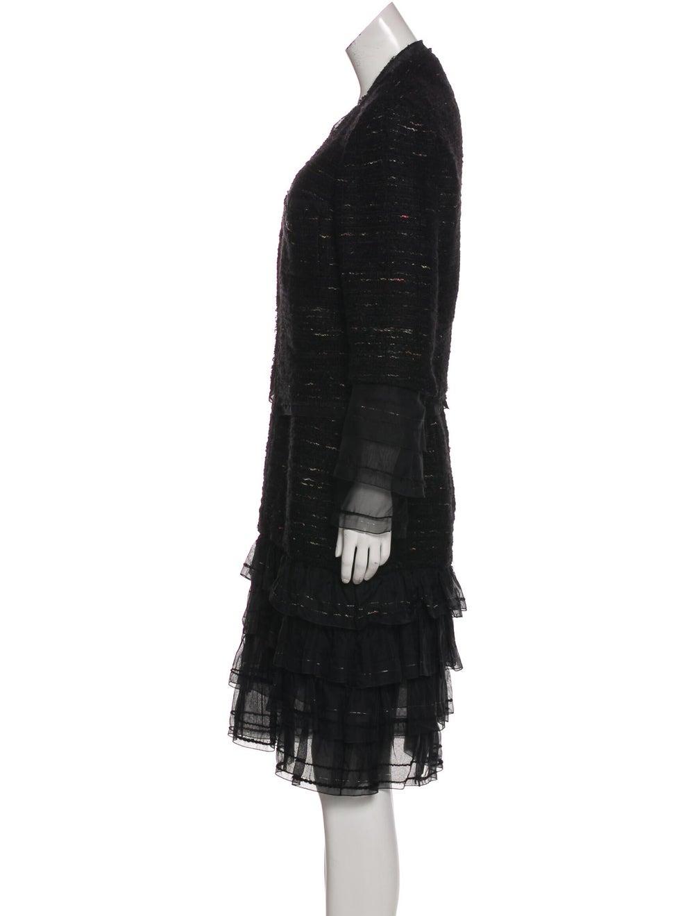 Chanel Metallic Tweed Dress Set Black - image 2