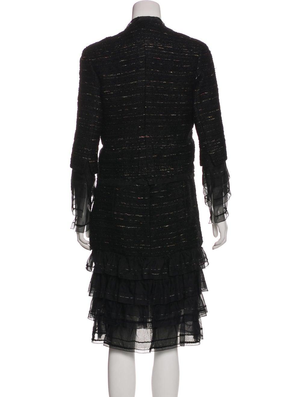 Chanel Metallic Tweed Dress Set Black - image 3