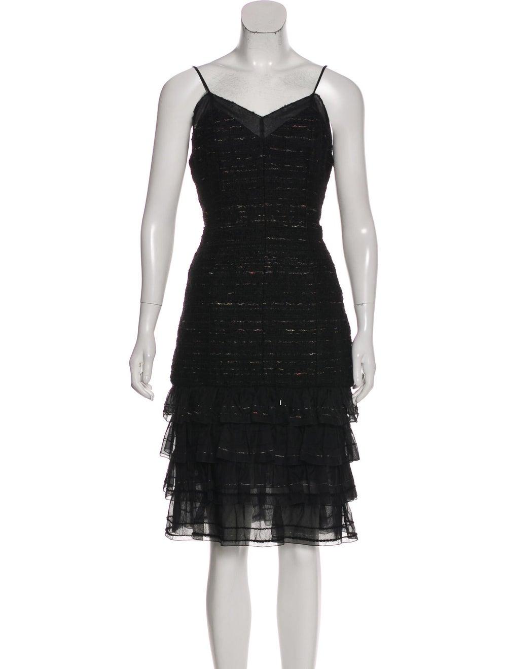 Chanel Metallic Tweed Dress Set Black - image 4