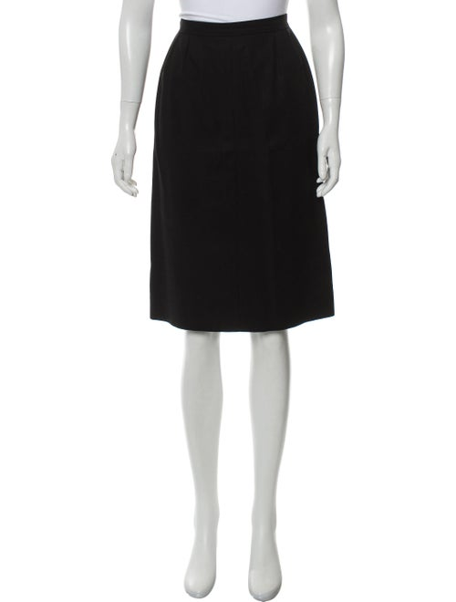 Chanel Knee-Length Pencil Skirt w/ Tags Black