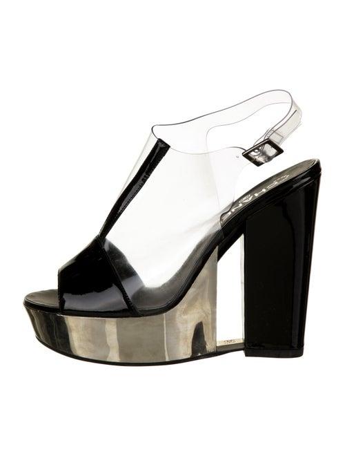 Chanel PVC Platform Sandals Clear