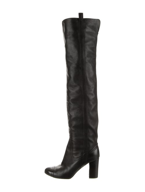 Chanel Leather Over-the-knee-Boots Black