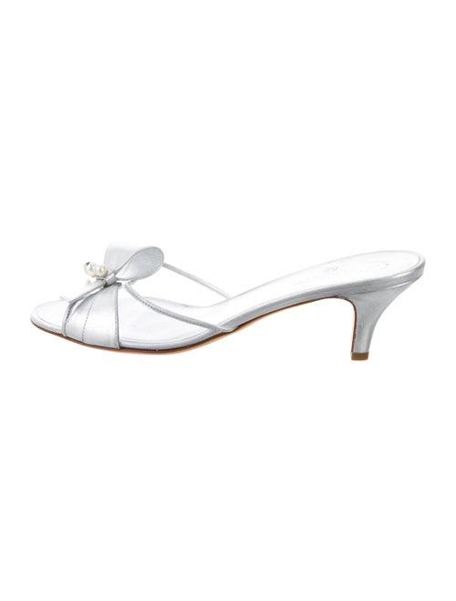 Chanel CC PVC Slide Sandals Clear