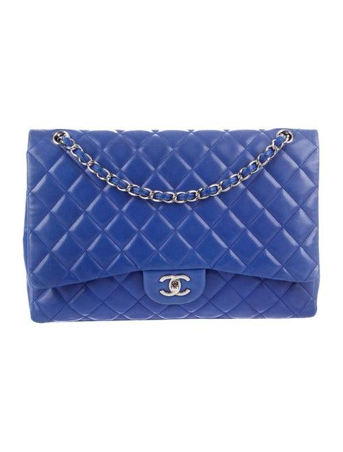 Chanel Maxi Single Flap Bag silver