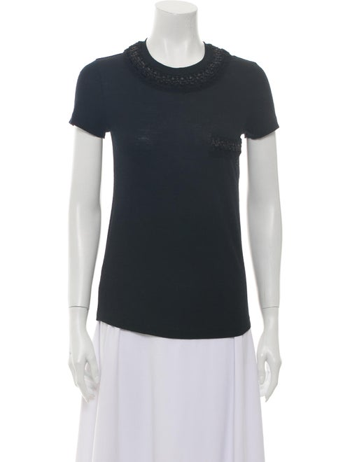 Chanel Wool Crew Neck T-Shirt Wool