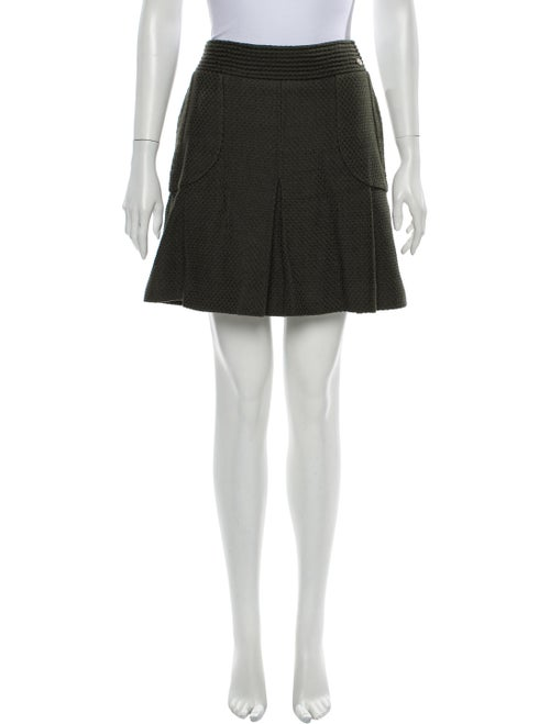 Chanel 2012 Mini Skirt Green