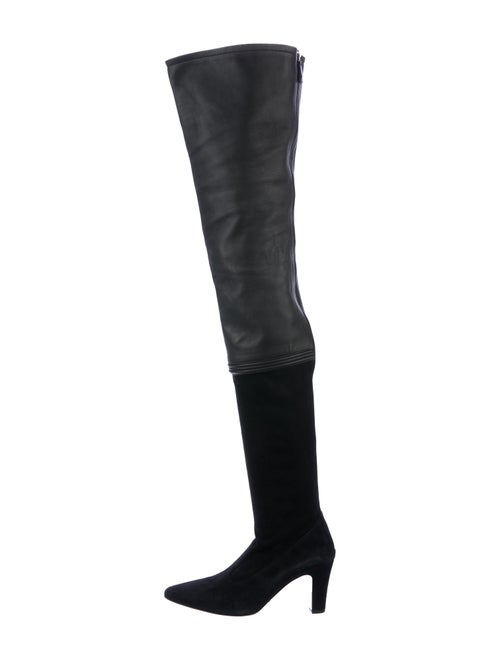 Chanel 2013 Over-The-Knee Pointed-Toe Boots Black