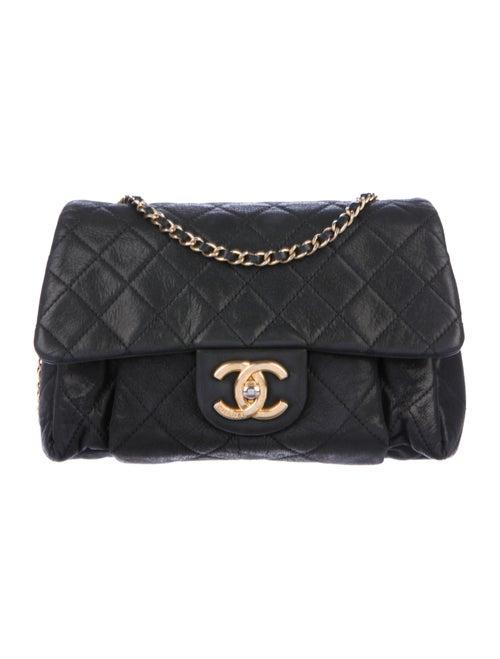 Chanel Coco Pleats Flap Bag Black