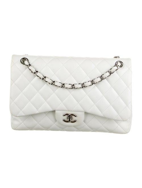 Chanel Classic Jumbo Double Flap Bag White