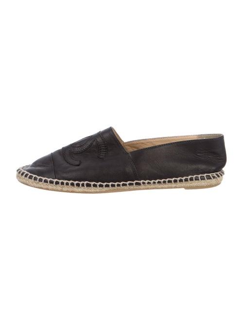 Chanel Espadrilles Leather Espadrilles Black
