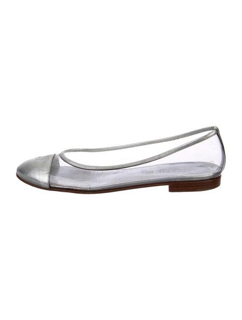 Chanel CC PVC Round-Toe Flats Clear